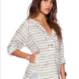Free People // Striped Pullover